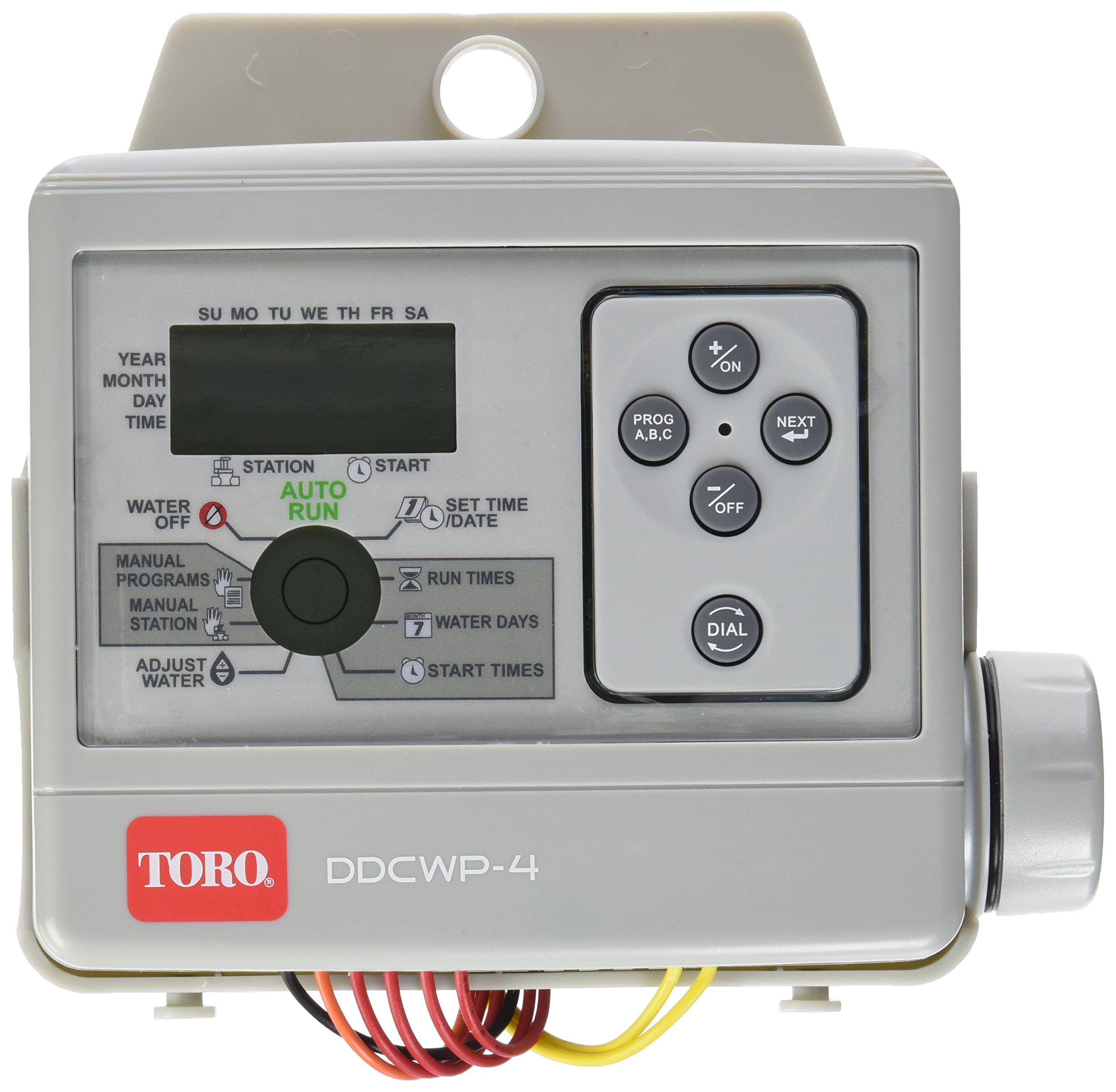 Toro DDCWP-4-9V Waterproof 4 Station Battery Controlled Controller by Toro
