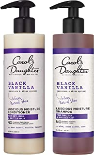 product image for Carol's Daughter Black Vanilla Moisture & Shine Shampoo and Conditioner Set For Dry Hair and Dull Hair, Sulfate Free Shampoo and Hydrating Hair Conditioner (Packaging May Vary)