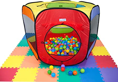 Non-Toxic Pit//Play Balls Crush Proof 6-Colors Durable Storage Bag Zipper 400-ct