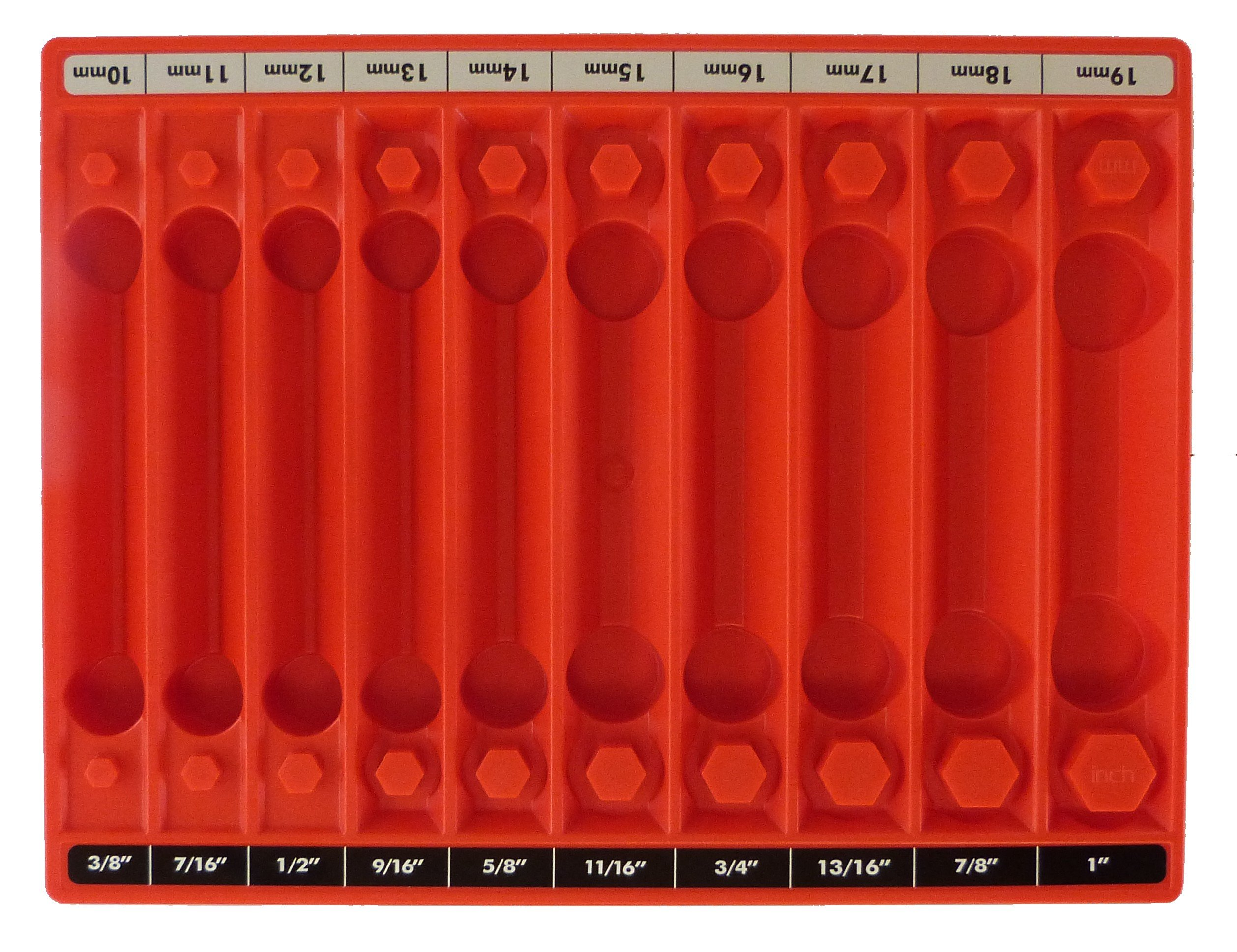 Tool Sorter Socket Organizer - Red