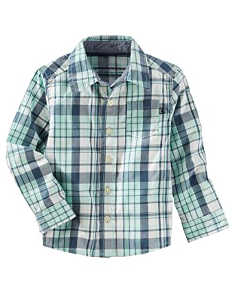 OshKosh BGosh Boys 2T-7 Long Sleeve Woven Shirt Osh Kosh