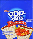 Kellogg's Pop Tarts Frosted Strawberry 624 g (Pack of 6, Total 12 Pastries )