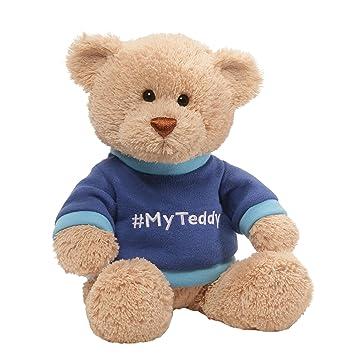 Amazon Com Gund Myteddy T Shirt Bear Stuffed Animal Plush Blue