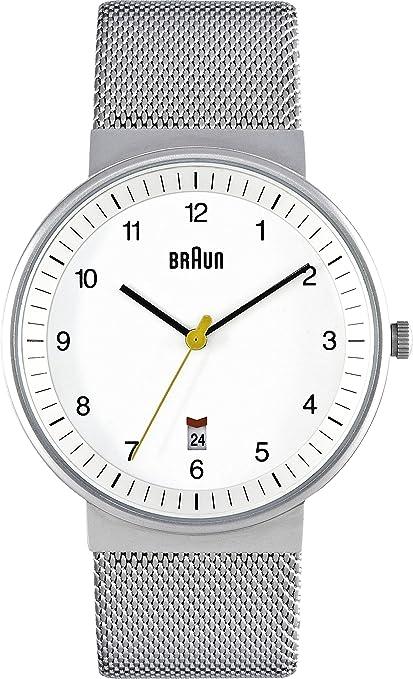 Braun BN0032WHSLMHG - Reloj analógico de caballero de cuarzo