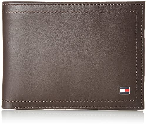 Tommy Hilfiger Harry CC and Coin Pocket, Bolsa y Cartera para Hombre, Marrón (