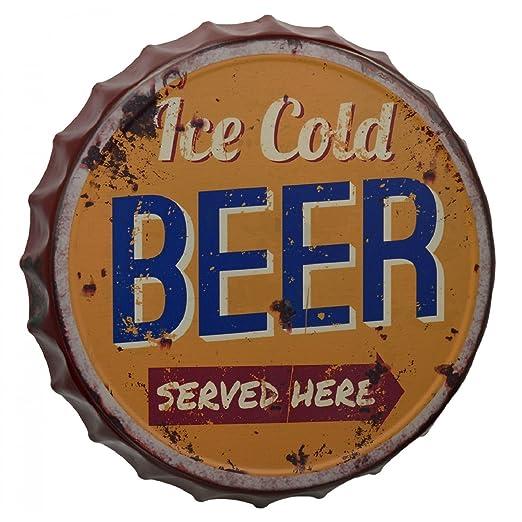 Gr Cartel de Chapa 33 cm Ice Cold Beer chapas Cerveza Cartel ...