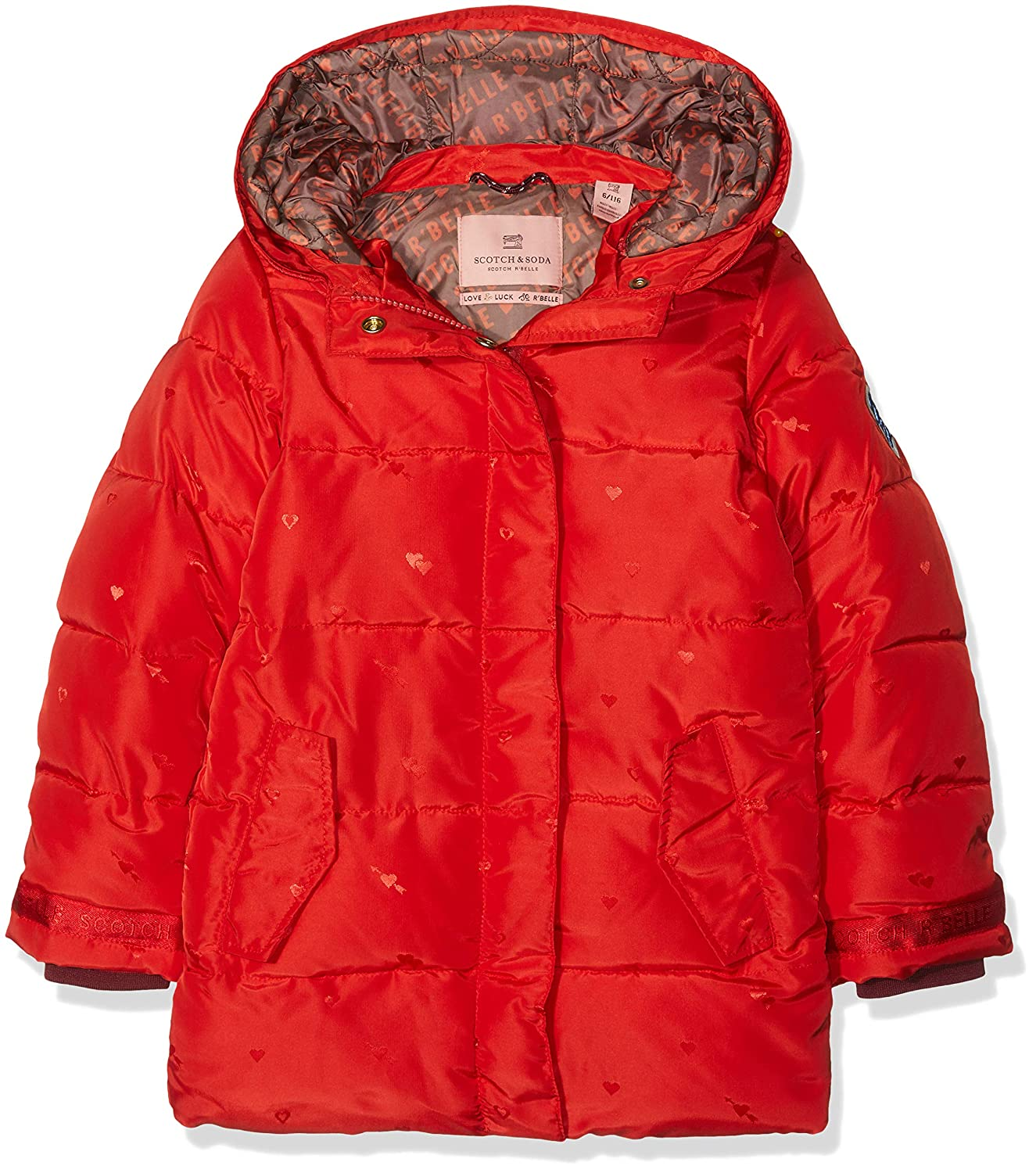 2e3492421290e Scotch   Soda Girl s Padded Jaquard Jacket with Double Hood Construction   Amazon.co.uk  Clothing