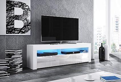 Porta tv moderno mozart mobile soggiorno bianco o nero