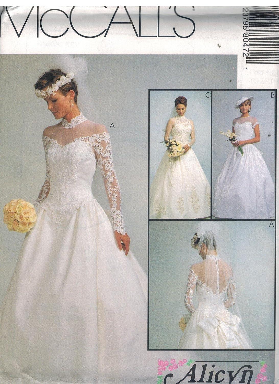 Amazon Com 8047 Mccalls Sewing Pattern Uncut Misses Wedding Dress