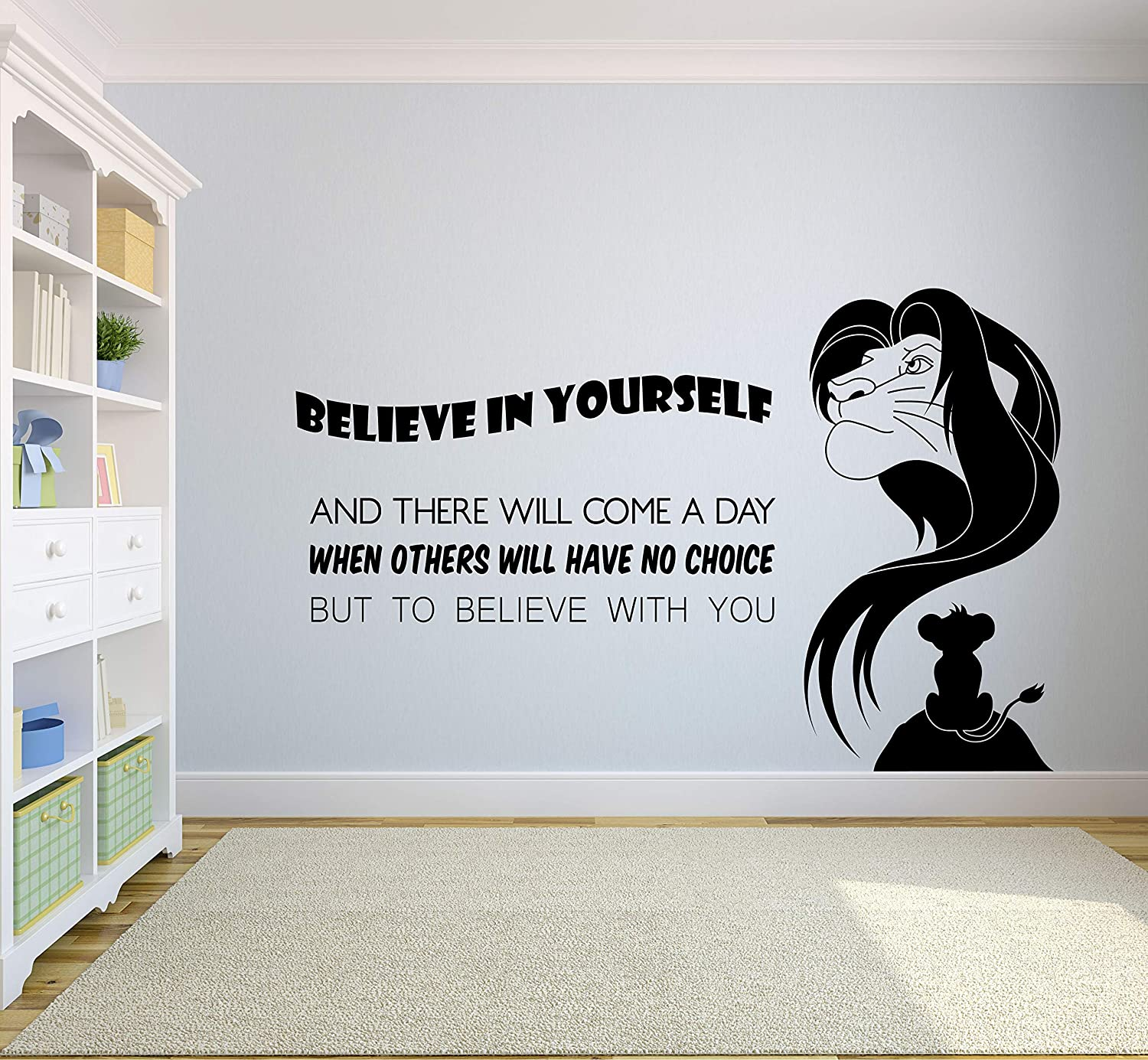 The Lion King Quotes Wall Decals for Kids Rooms Mufasa Simba Decor Boys Girls Children Creative Animated Vinyl Decal Removable Stickers for Bedroom Artwork Child Favorite Decoration Size (18x20 inch)