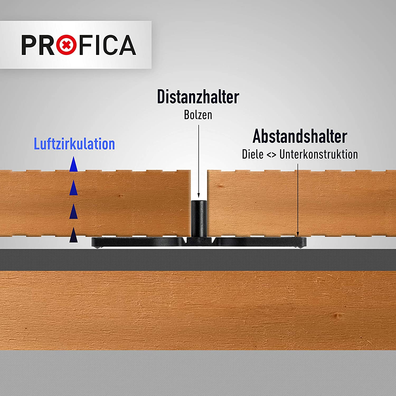 200, 7mm Profica/® Abstandshalter Distanzhalter f/ür Terrassendielen 4mm