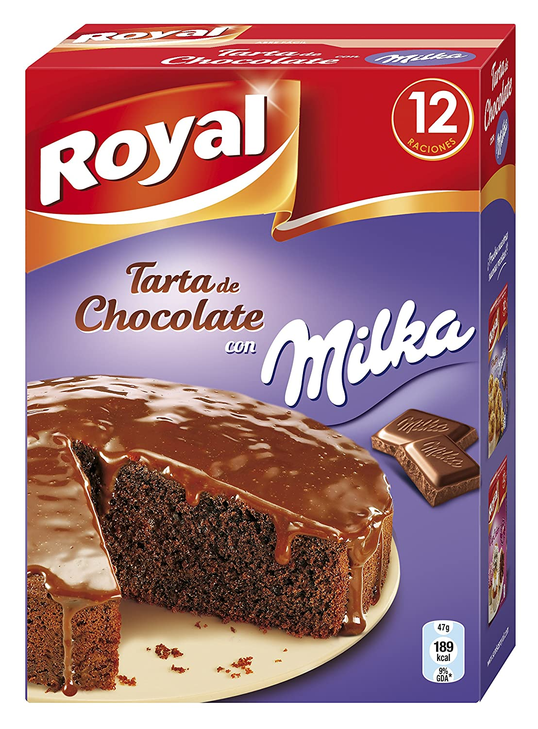 Royal - Tarta de chocolate Milka, 3 x Paquete de 2 sobres: Amazon ...
