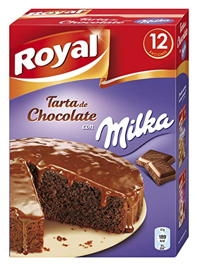 Royal - Tarta de chocolate Milka, 3 x Paquete de 2 sobres