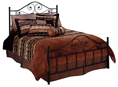Hillsdale Furniture 1403BFR Harrison Bed Set With Rails, Full, Texture Black