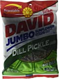 David Jumbo DILL PICKLE Sunflower Seeds, Roasted and Salted (3 Pack) 5.25 oz each