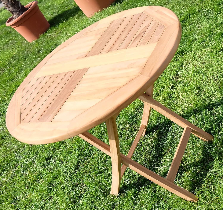Amazon.de: TEAK Klapptisch Holztisch Gartentisch Garten Tisch Rund 80cm  COAMO Holz Von AS S