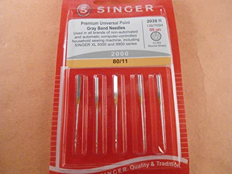 Auténtica Singer Premium punto gris banda universal Agujas para ...