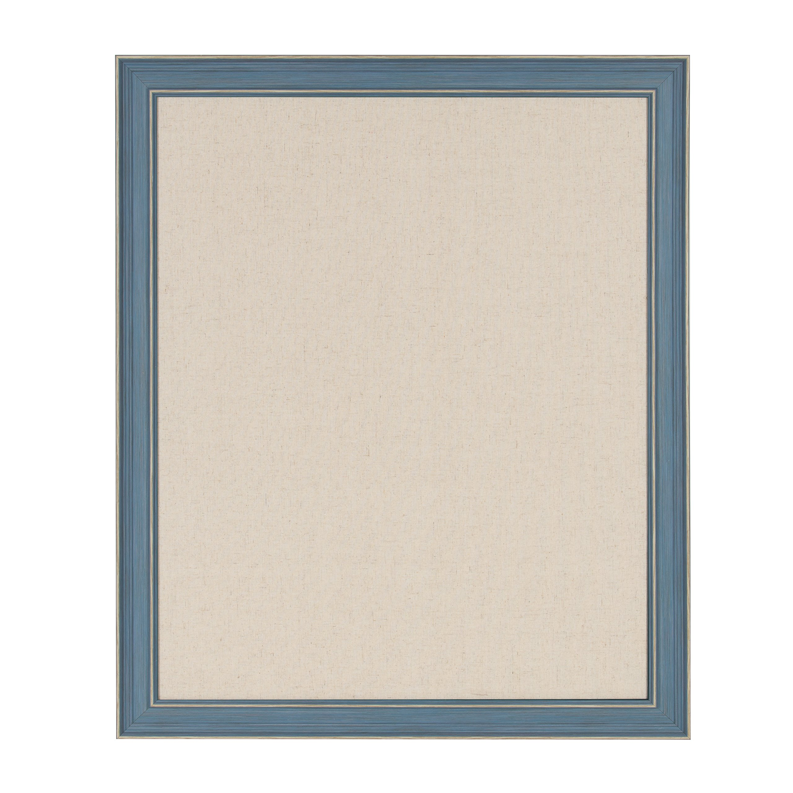 DesignOvation Harvest Framed Decorative Pinboard, 27.5x33.5 Inches, Rustic Blue by DesignOvation