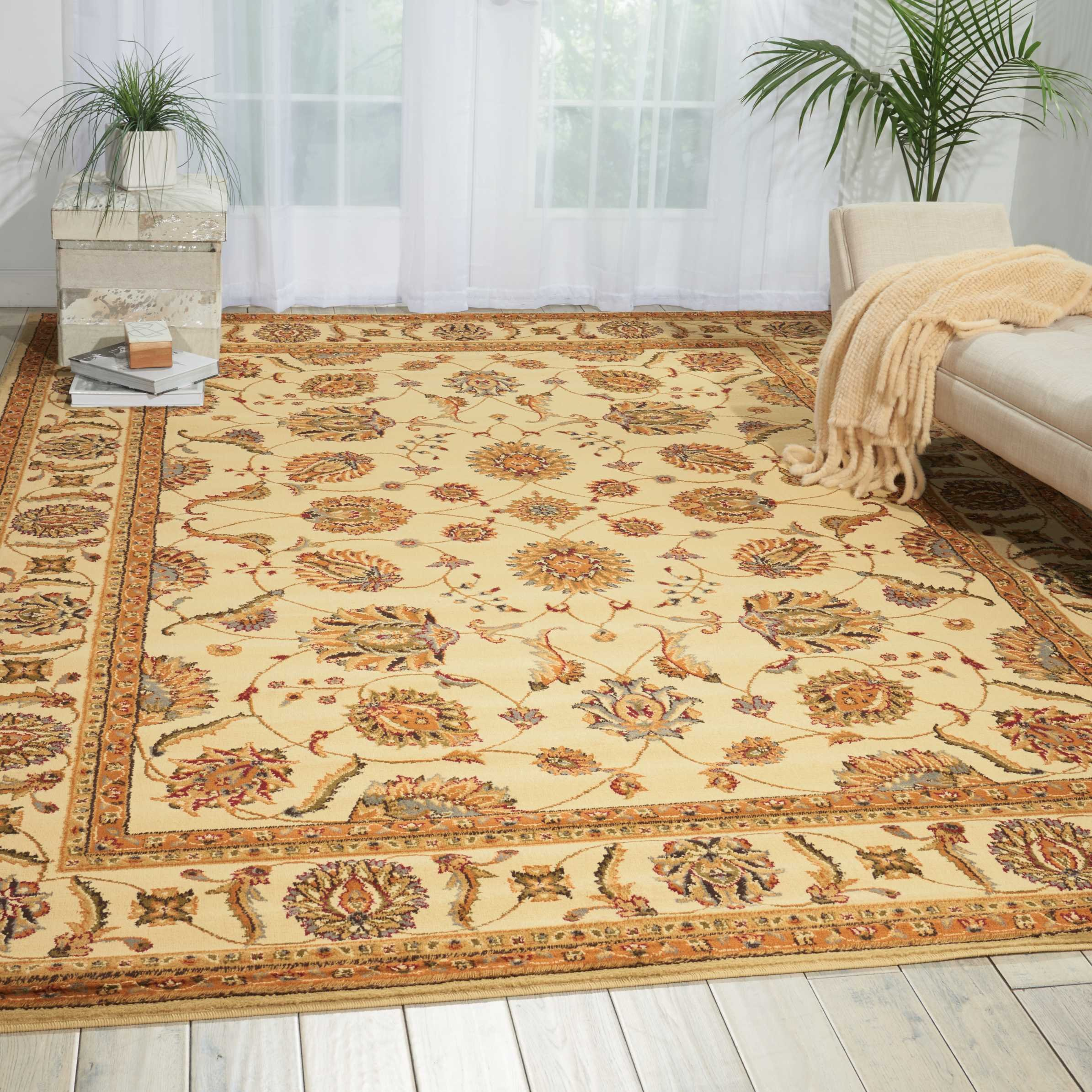Nourison Paramount (PAR09) Beige Rectangle Area Rug, 7-Feet 10-Inches by 10-Feet 6-Inches (7'10'' x 10'6'')