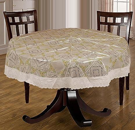 Bianca La - Italia Four Seater PVC Table Cloth - 60&quot; x 60&quot;, White <span at amazon