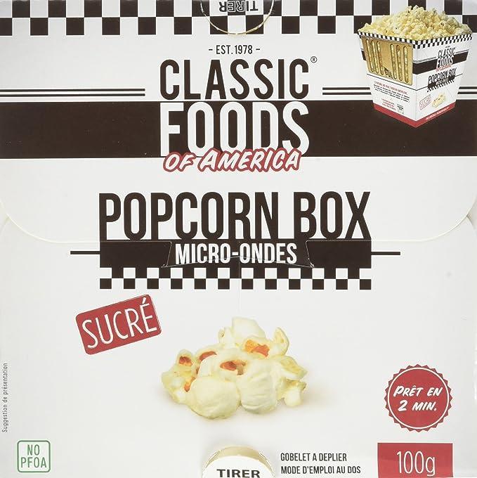 50% de réduction meilleur site web style unique CLASSIC FOODS OF AMERICA Popcorn Box Sucre 100 g - Lot de 9