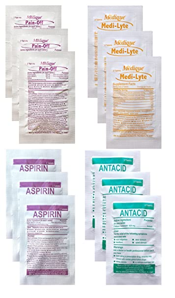 The Hangover Medicine Pack (Pain Relief - Caffeine - Electrolytes - Stomach  Relief)