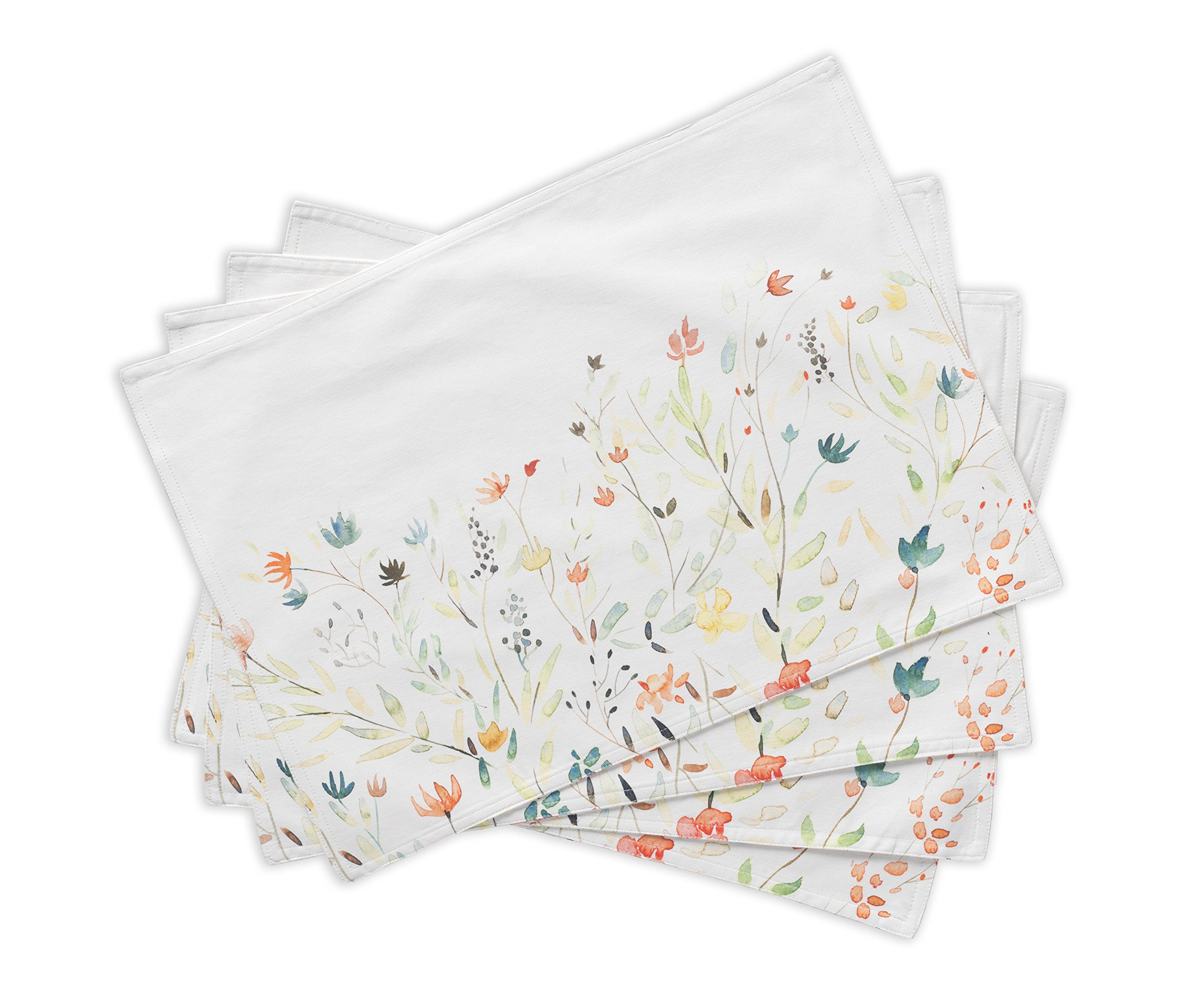 Maison d' Hermine Colmar 100% Cotton Set of 4 Placemats 13 Inch by 19 Inch - Designed in Europe. 100% Cotton and machine washable. Package includes - 4 Placemats. - placemats, kitchen-dining-room-table-linens, kitchen-dining-room - 91BQW2wUvuL -
