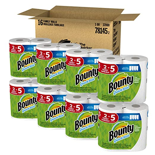 16 Bounty Paper Towels Family.