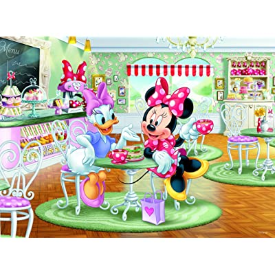 Ceaco Disney Friends Minnie and Daisy Café Jigsaw Puzzle, 200 Pieces: Toys & Games