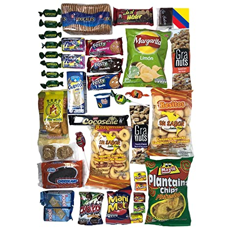 Colombian Snacks Sampler Variety Box - Cookies, Chips & Candies Assortment Pack - Delicious Gift Box - College Care Package (Mecato+Frunas): Amazon.com: ...