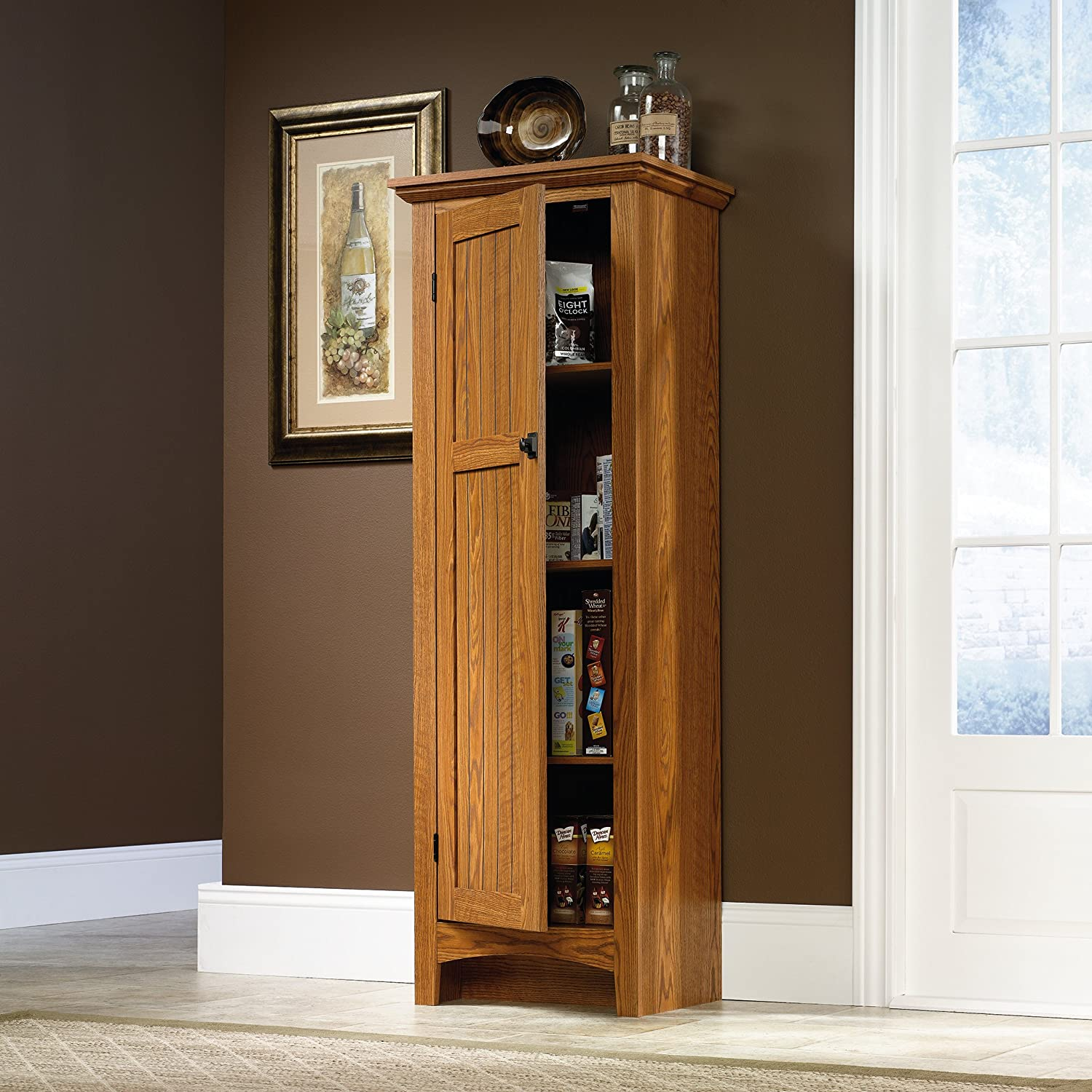 Amazon.com: Sauder Summer Home Pantry, Carolina Oak Finish ...