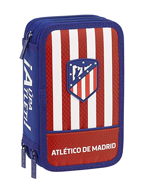 Atletico De Madrid 411845857 2018 Estuches, 20 cm, Rojo