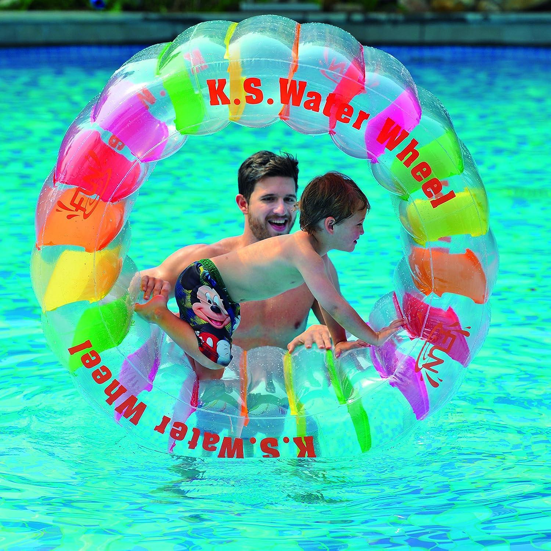 Amazon Balance Living Inflatable Kids Water Wheel Pool Toy