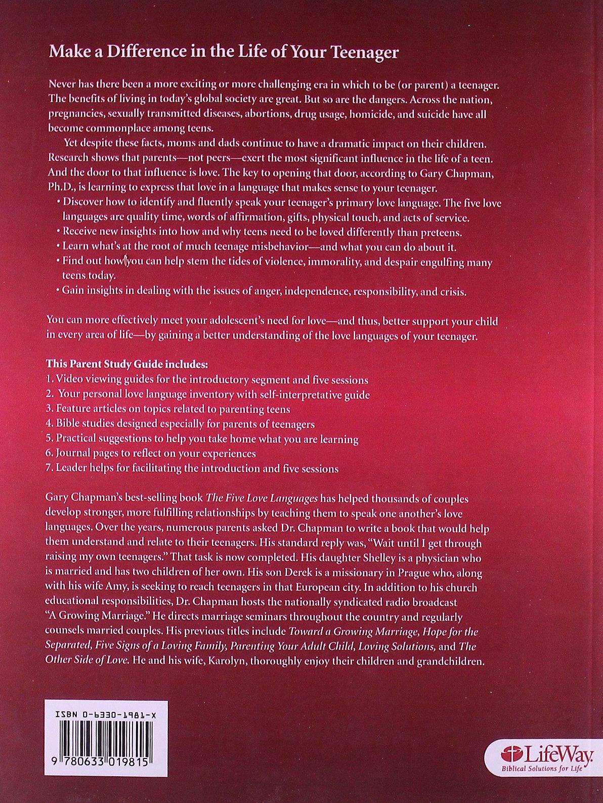 The Five Love Languages Ofagers Parent Study Guide Gary Chapman 9780633019815 Amazon Com Books