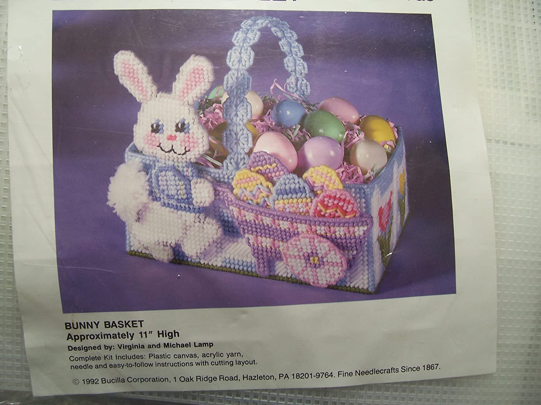 Bunny Basket Plastic Canvas Needlepoint Kit