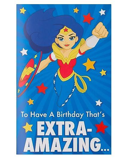 Amazon American Greetings Wonder Woman Birthday Card For Girl