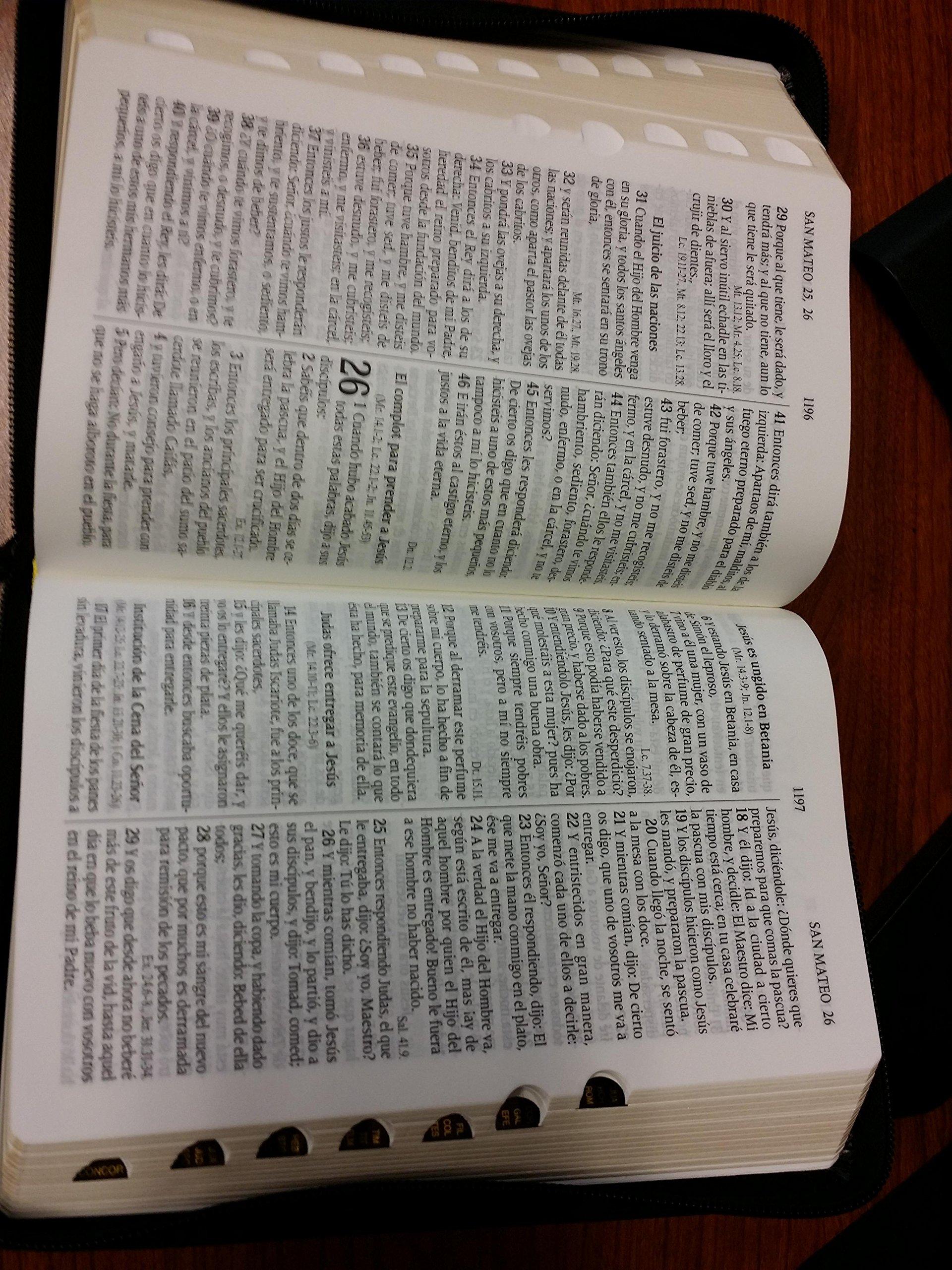 BIBLIA LETRA GRANDE TAMAÑO MANUAL REINA VALERA 1960 CON INDICE: Reina Valera 1960: 9789587451535: Amazon.com: Books