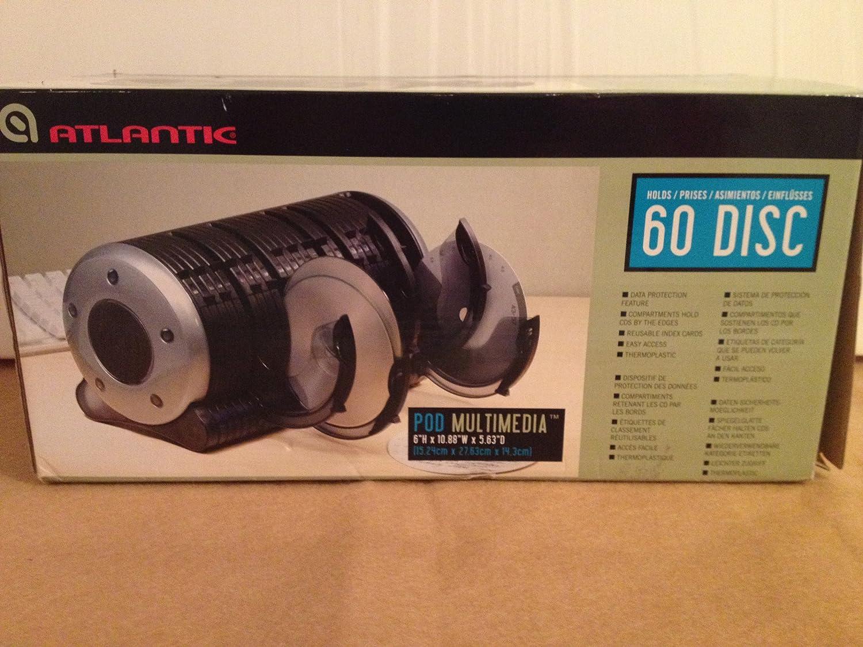 Atlantic 763045333 POD Multimedia 60 Disc Storage Organizer