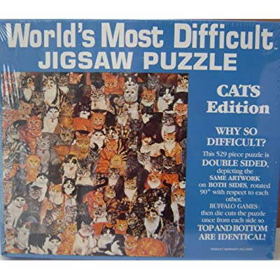 World's Most Difficult Jigsaw Puzzle - Cats Edition - 529 Pieces - Puzzle pieces are double sided: Everything Else