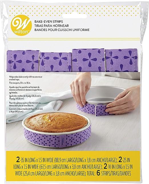 Wilton Bake-Even Strips Cake Baking Decorating Moisture Keeping Tool 2 Pieces