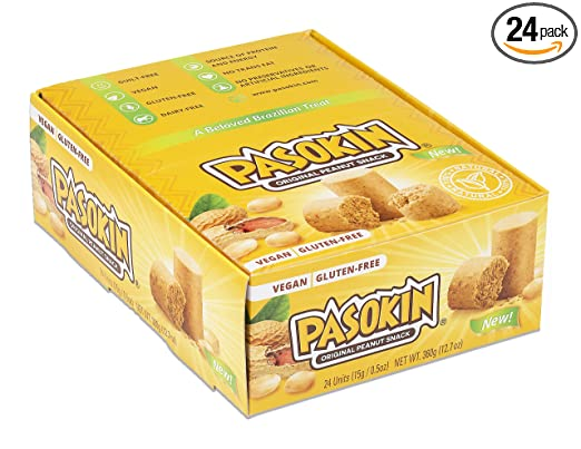 Pasokin | Snack de mantequilla de maní original | Sin gluten ...
