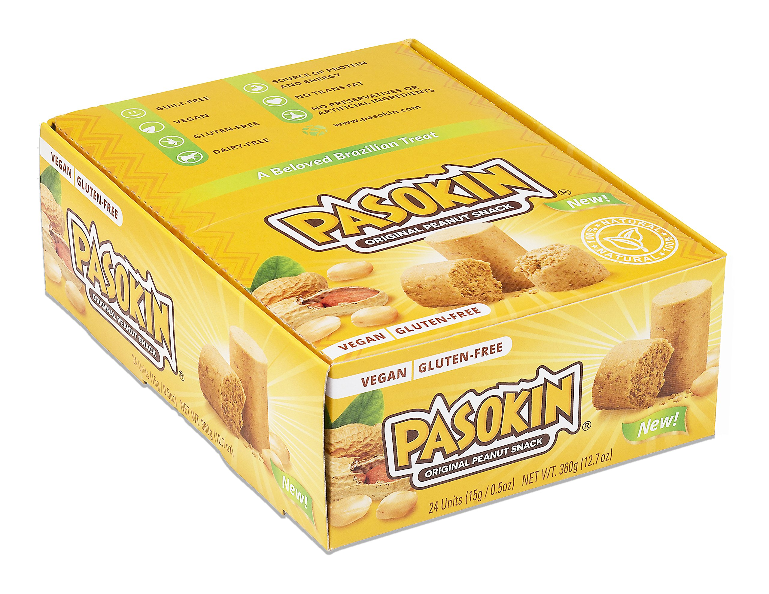 PASOKIN | Original Peanut Butter Snack | Gluten Free, Vegan, All Natural, Made