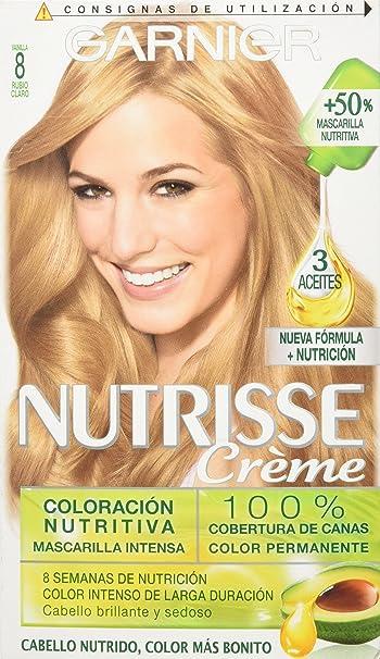 Garnier Nutrisse Crème, Coloración Nutritiva, Rubio Claro (8 ...