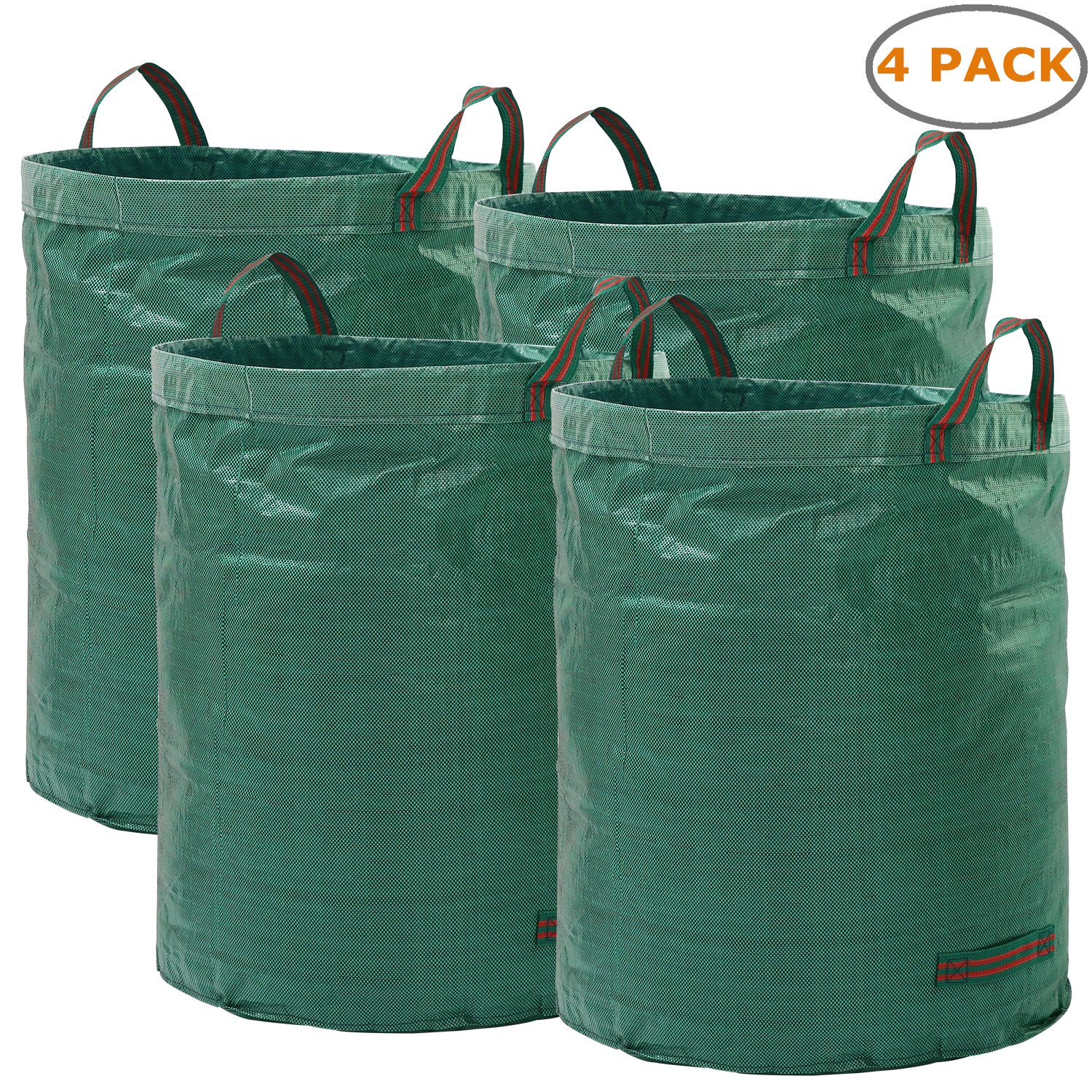 Ohuhu Garden Waste Bags 72 Gallons Reusable Yard Leaf Bag, Durable & Portable Garden Storage Bags With Dual Handles, 4 Pack by Ohuhu