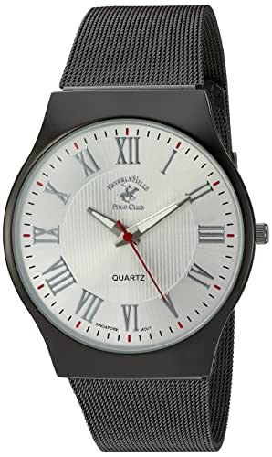 Amazon.com: US Beverly Hills Polo Club Mens Quartz Metal and Alloy Watch, Color:Grey (Model: 52800): Watches