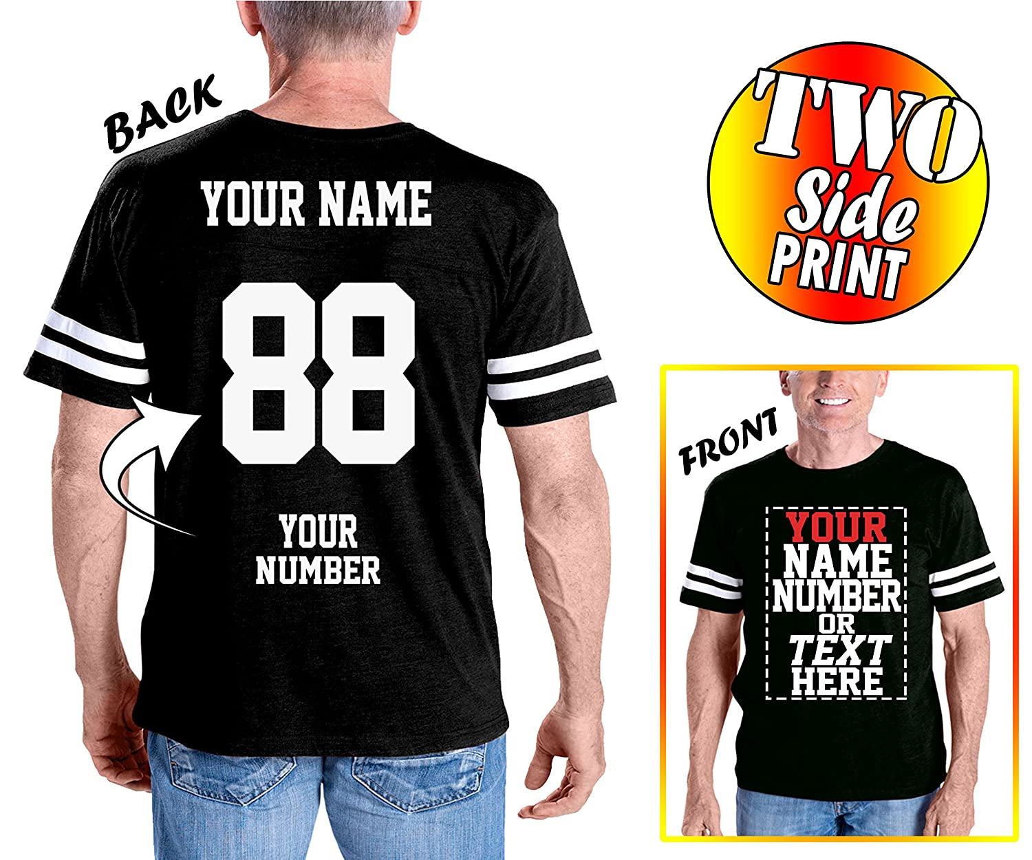 Custom Cotton Jerseys - Make Your OWN Jersey T Shirts...