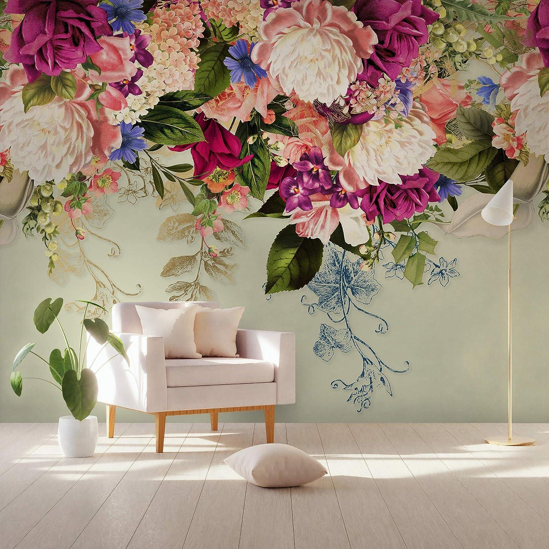 Vintage Pink And Burgundy Floral Wallpaper Backdrop Flower