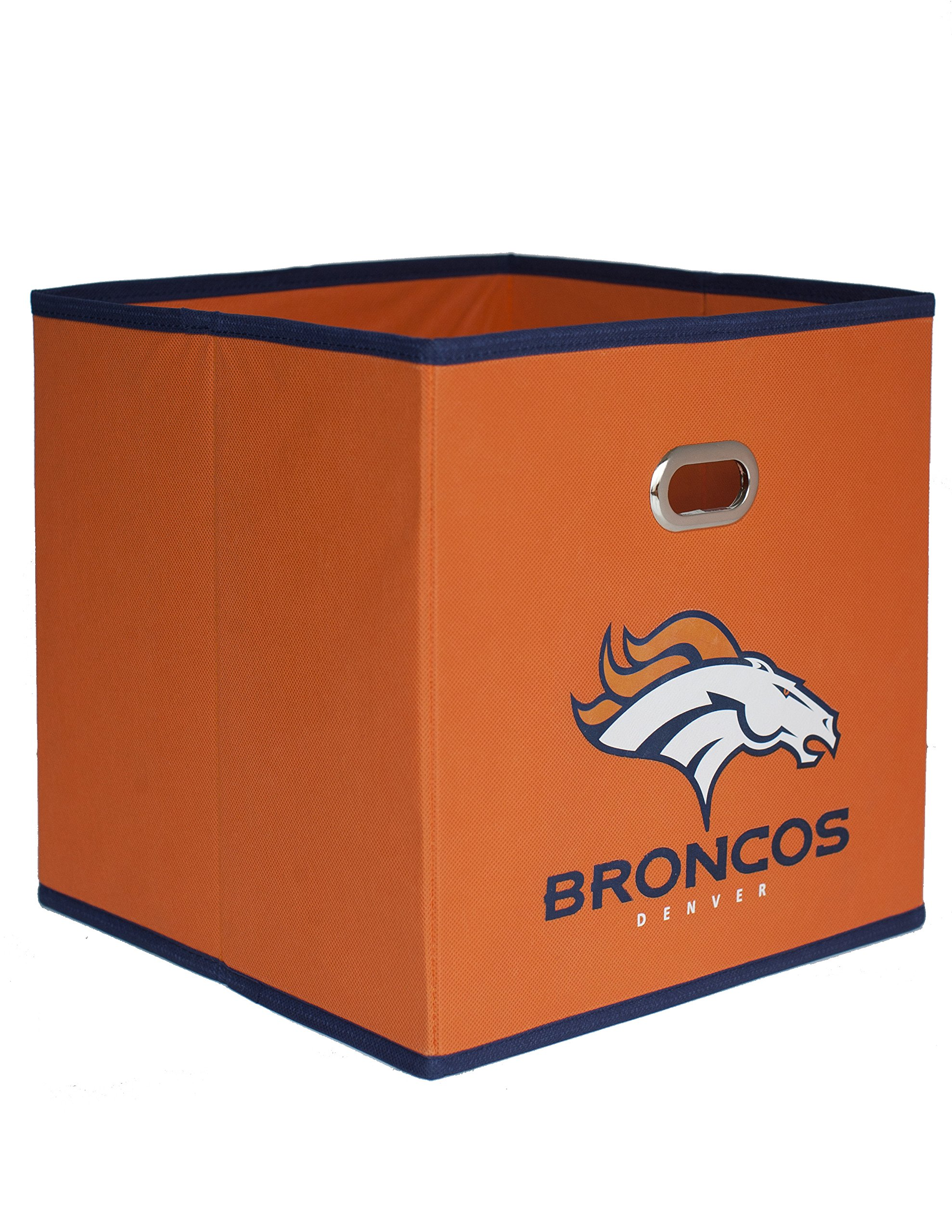 NFL Denver Broncos Fabric Storage Bin, 11 X 11 Inches, Orange    11000 009DEN U003c Décor U003c Sports U0026 Outdoors   TIBS
