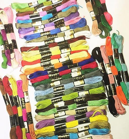 Nuevo 50 madejas Anchor algodón hilo de bordar: Amazon.es: Hogar