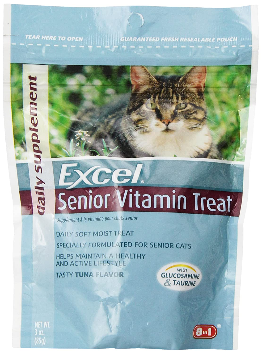Excel Soft & Moist Vitamin for Senior Cats 3-Ounce Pouch